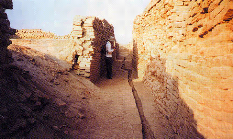 インダス文明の排水溝跡